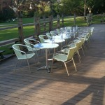 chairs on the decking